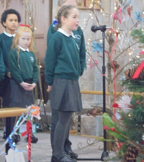 St Margaret's Church, Christmas Tree and Crib Festival 2016 - Isabelle, one of our soloists in the choir
