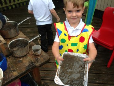 Mason made us a very tasty mud cake today