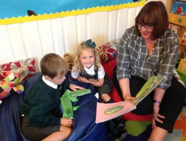 Sharing stories with Mrs Trenchard