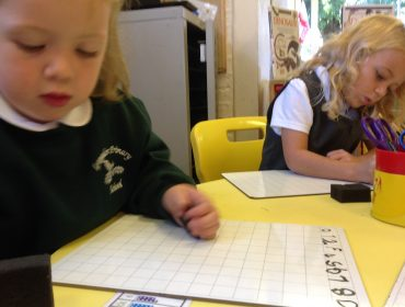 Maya writing numbers in order